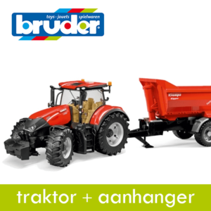 Bruder Traktor+Aanhanger