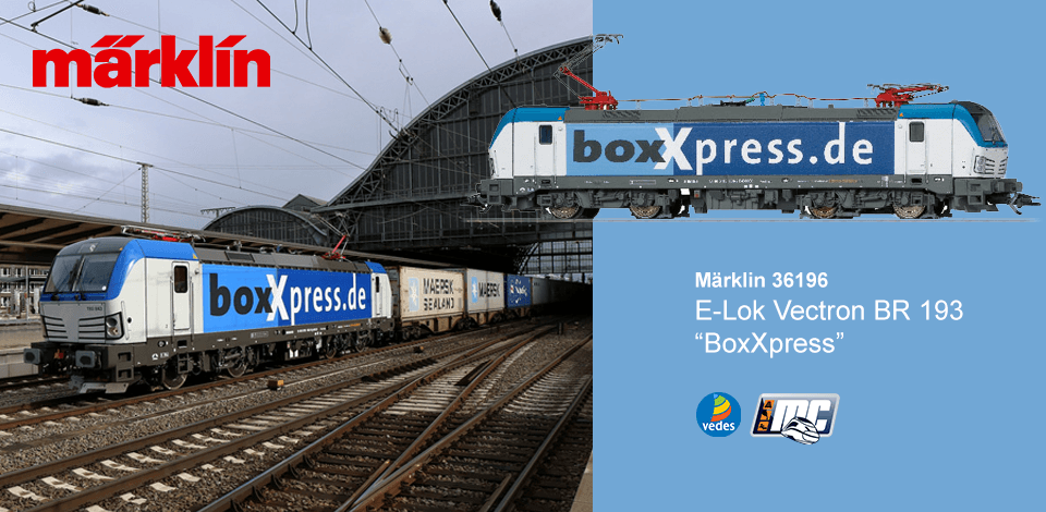 Märklin MC-Vedes 36196 E-Lok Vectron BR 193 BoxXpress