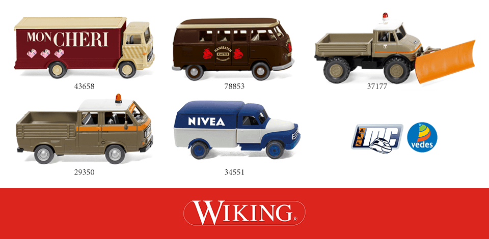 Wiking MC-Vedes 43658, 78853, 37177, 29350, 34551